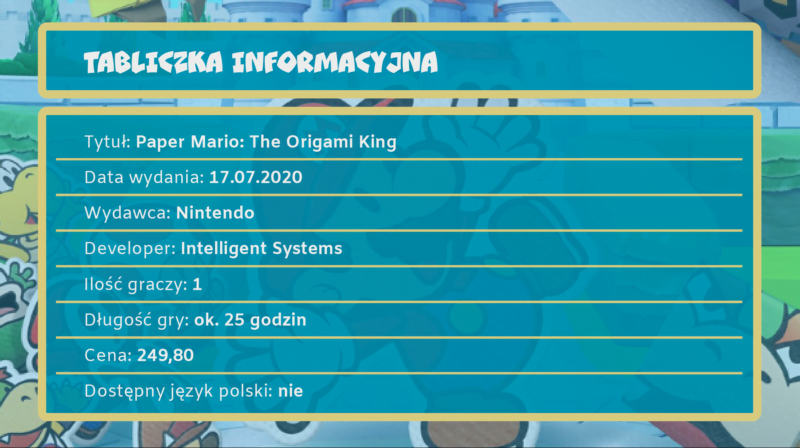 [Recenzja] Paper Mario: The Origami King